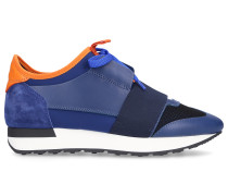 Sneaker low RACE RUNNER Kalbsleder Nylon orange