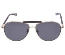 Sonnenbrille Aviator B36V Holz Metall gold