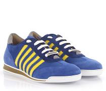 2 Sneaker New Runner Veloursleder blau Nylon gelb