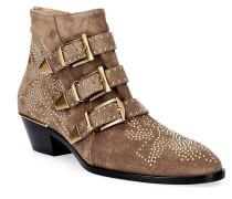 Ankle Boots SUSANNA Veloursleder Nieten Zierschnalle