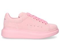 Sneaker low LARRY Veloursleder Logo rosa