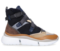 Sneaker high SONNIE HIGH Kalbsvelours Materialmix