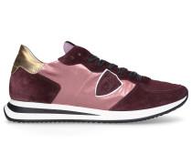 Sneaker low TRPX Veloursleder Logo Patch bordeaux