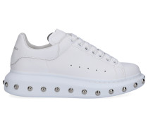 Sneaker low LARRY Kalbsleder Logo silber