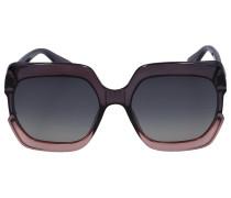 Sonnenbrille Square GAIA Acetat grau pink