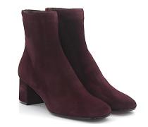 Stiefelette Boots 8404 Veloursleder Bordeaux