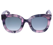 Sonnenbrille Square 208S Acetat Schildkröte grau