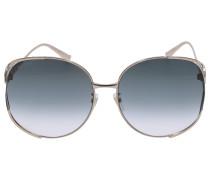 Sonnenbrille Oversized 225S Metall gold