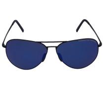 Sonnenbrille Aviator 8508 Verspiegelt Metall blau