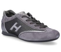Sneaker low Textil Veloursleder Logo silber