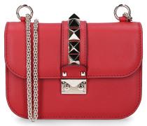 Handtasche B0312 Glattleder Nieten Logo