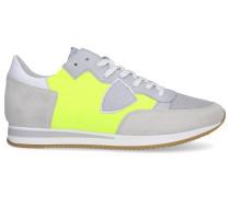 Sneaker low TROPEZ Textil Veloursleder Logo grau