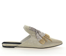 Slipper 112986 Textil Stickerei gold