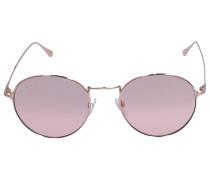 Sonnenbrille Round 649 Metall rosé