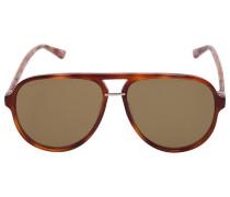 Sonnenbrille Aviator 0015S Acetat Schildkröte
