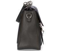 Handtasche FAYE M Veloursleder Kalbsleder Logo