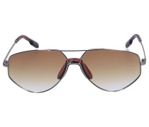 Sonnenbrille Aviator 40014U 12W Metall silber