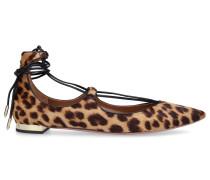 Ballerinas CHRSITY FLAT Pony Leo Print leopard