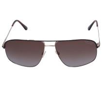 Sonnenbrille Aviator 467 Metall Acetat gold