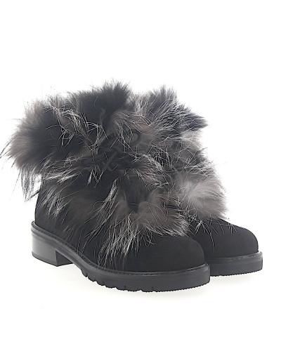 Stiefeletten Boots Befoxy Veloursleder Fell