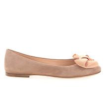Ballerinas 8291 Veloursleder rosè Stoffschleife