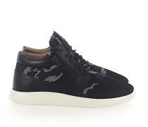 Sneaker high RUNNER Kalbsleder Mesh Textil
