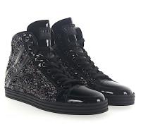 Sneaker High R182 Lackleder Pailletten