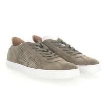 Sneaker Y0X990 Veloursleder taupe Leder weiss
