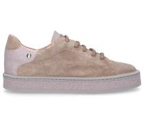 Sneaker low D925213 Glitter Veloursleder Glitzer rosa