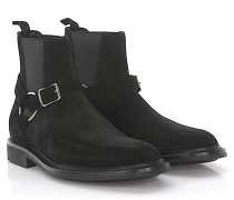 Chelsea Boots Army 20 Veloursleder