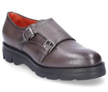 Monk Schuhe 55967 Glattleder Crinkled dunkelbraun