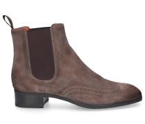 Chelsea Boots 55133 Veloursleder Lochmuster