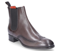 Chelsea Boots 55133 Kalbsleder Lochmuster taupe