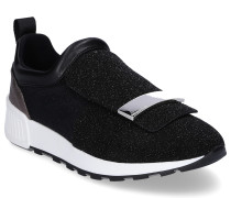 Sneaker low A80840 Gummi Textil Logo Metallisch