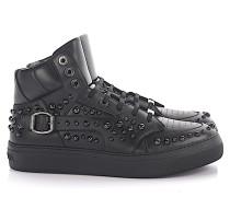 Sneaker High Ruben Leder Nieten anthrazit