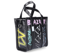 Handtaschen BAZAR SHOPPER XXS GRAFFITI Schwartz Logo
