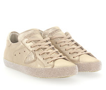 Sneaker PARIS Leder metallic Glitzersohle