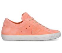 Sneaker low PARIS L Veloursleder Logo Patch coralle