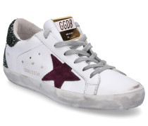 Sneaker low SUPERSTAR Glattleder Glitter Used grün