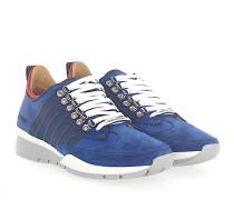 Sneaker 251 Hightech-Jersey Veloursleder rot