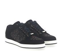 Sneaker MIAMI Textil Veloursleder Glitzer Logo bronze