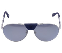 Sonnenbrille Aviator B33 Metall silber