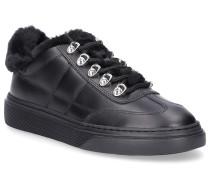 Sneaker Glattleder Metallisch