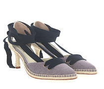 Pumps Espadrilles MANOLO MEDIUM Textil beige