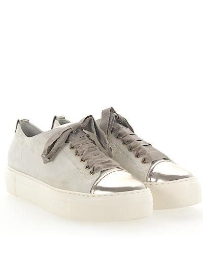Sneaker D925065 Plateau Veloursleder weiss Leder