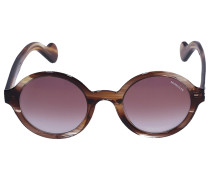 Sonnenbrille Round 0041 Acetat Schildkröte braun