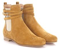 Stiefeletten Boots 7681 Veloursleder Lyra-Lochung