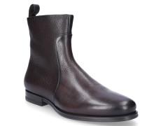 Chelsea Boots 15309 Glattleder Prägung dunkel