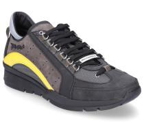 Sneaker low 551 Glattleder Textil Logo dunkel