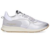 Sneaker low MONTECARLO Kalbsleder Logo silber
